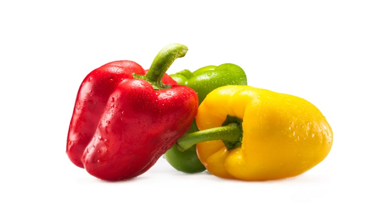 different color bell peppers